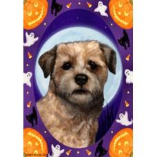 Indoor/Outdoor Halloween Flag - Border Terrier (TB)
