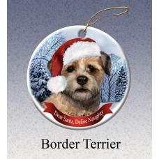 Porcelain Ornament - Border Terrier