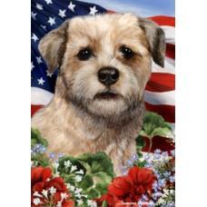 Indoor/Outdoor Patriotic I Flag - Border Terrier (TB)
