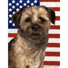Indoor/Outdoor Patriotic II Flag - Border Terrier (TB)