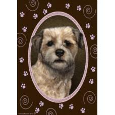 Indoor/Outdoor Paw Print Flag - Border Terrier (TB)