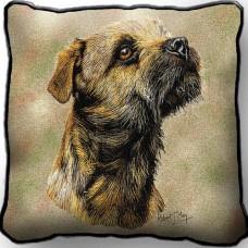 Woven Pillow - Border Terrier
