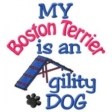 My Boston Terrier is an Agility Dog