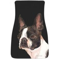 Car Floor Mat Pair (BVV)  - Boston Terrier