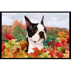 Fall Floor Mat - Boston Terrier