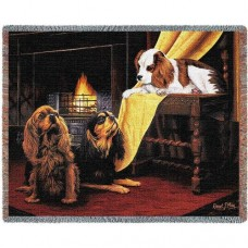 Woven Throw - Cavalier King Charles Spaniels
