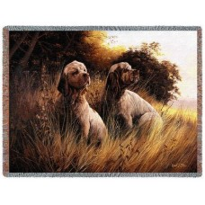 Woven Throw - Clumber Spaniel Pair