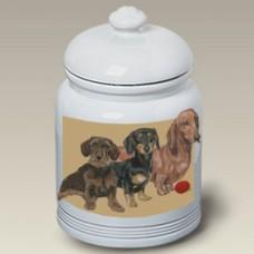 Ceramic Treat Jar (PS) - Dachshund 52008