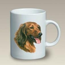 Ceramic Mug (LP) - Longhaired Red Dachshund