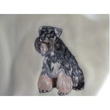 Embroidered Miniature Schnauzer AD015