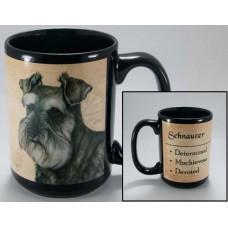 15 oz. Faithful Friends Mug - Uncropped Schnauzer