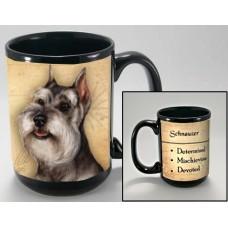15 oz. Faithful Friends Mug - Schnauzer