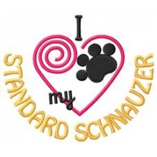 Embroidered Standard Schnauzer 1448R