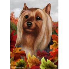 Silky Terrier Fall Flag
