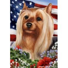 Silky Terrier Patriotic 1 Flag