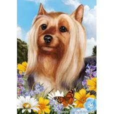 Silky Terrier Summer Flag