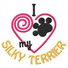 I Heart My Silky Terrier Short-Sleeved T-Shirt