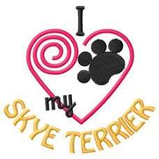 Embroidered Skye Terrier 1399R